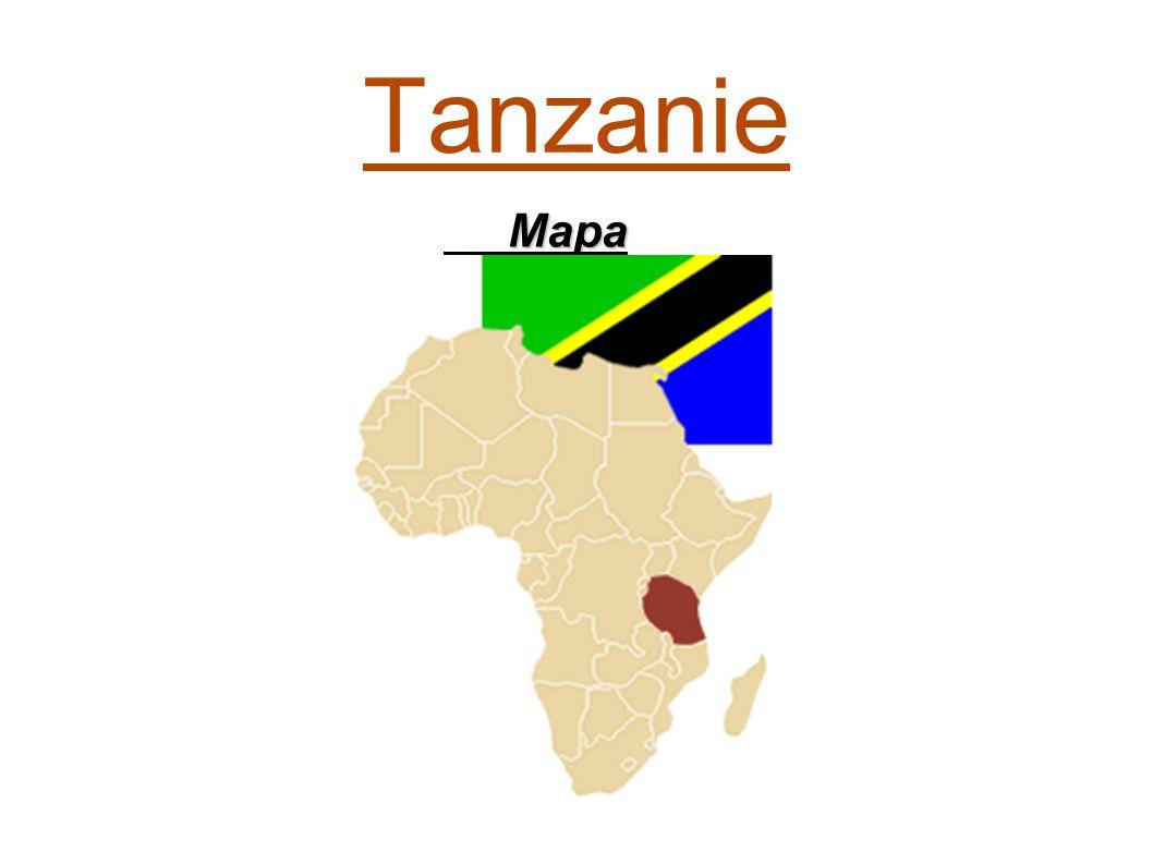 Tanzanie Mapa Mapa