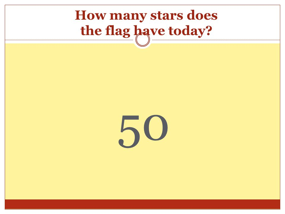 How many stars does the flag have today 50
