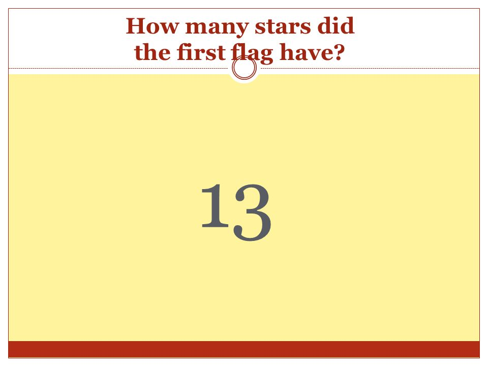 How many stars did the first flag have? 13