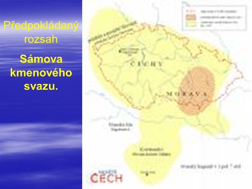 Předpokládaný rozsah Sámova kmenového svazu.