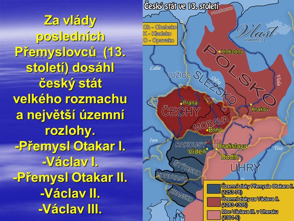 Toto je další mapa, která dokumentuje rozsah moci posledních Přemyslovců Václava II.