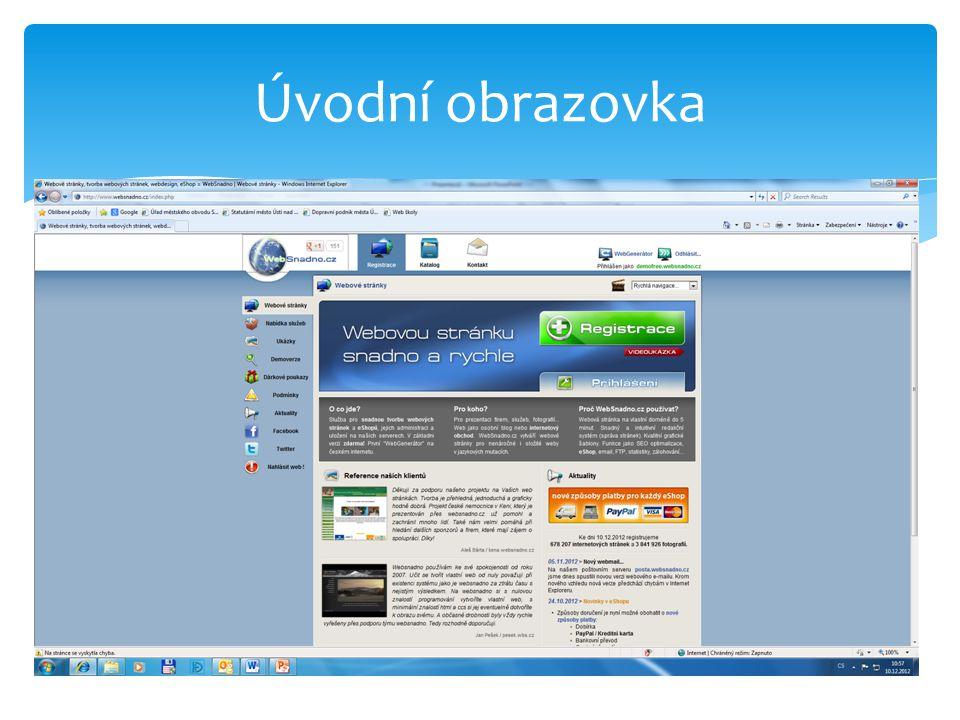 Výsledek – vloženo logo a název stránky