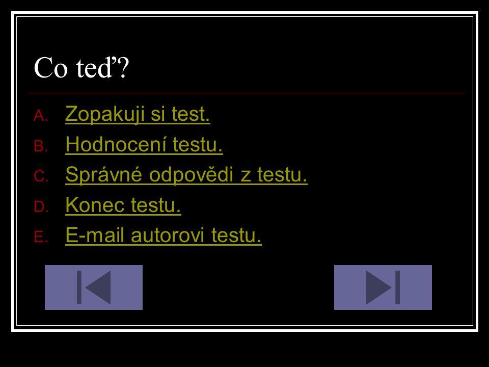 Hodnocení testu: 5.Chyb – Zopakuj si to. 4. Chyby – Taky by sis to mohl/a zopakovat.