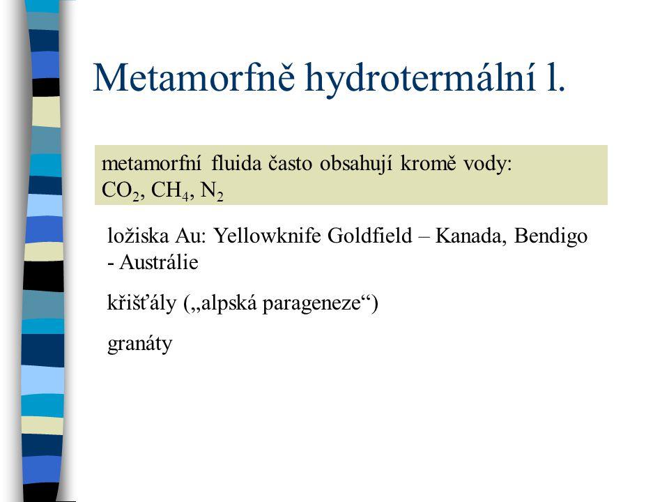 Metamorfně hydrotermální l.