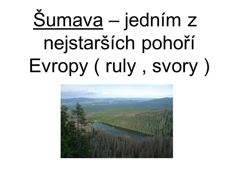 Šumava – jedním z nejstarších pohoří Evropy ( ruly, svory )