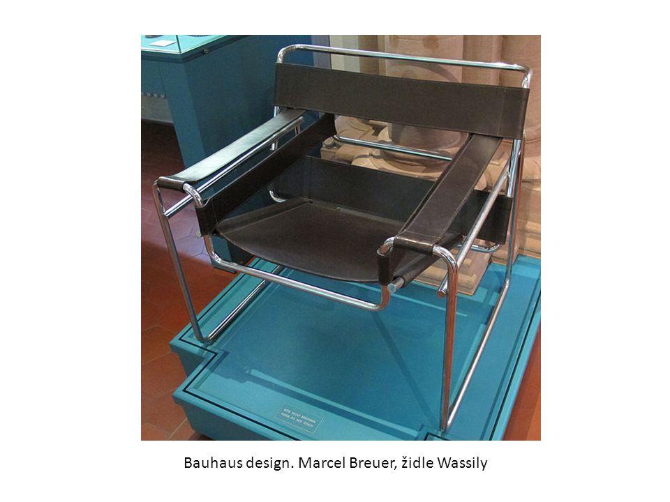 Bauhaus design. Marcel Breuer, židle Wassily