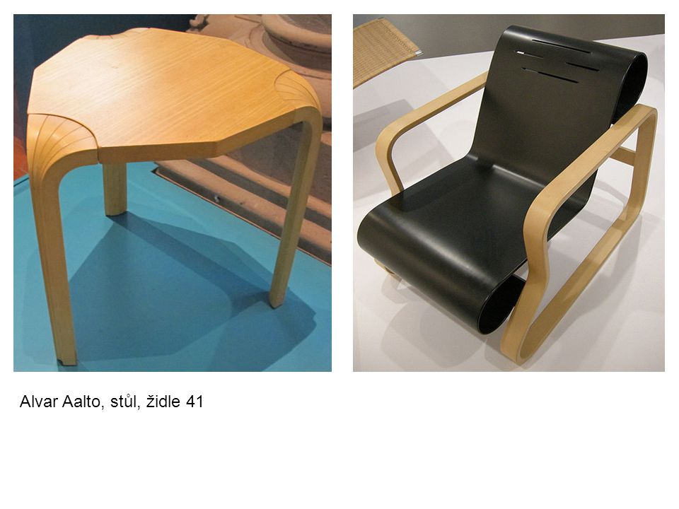 Alvar Aalto, stůl, židle 41