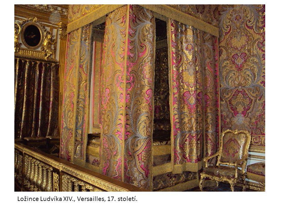 Nábytek barokní, Ludvík XIV. Versailles, rokoko Ložince Ludvíka XIV., Versailles, 17. století.