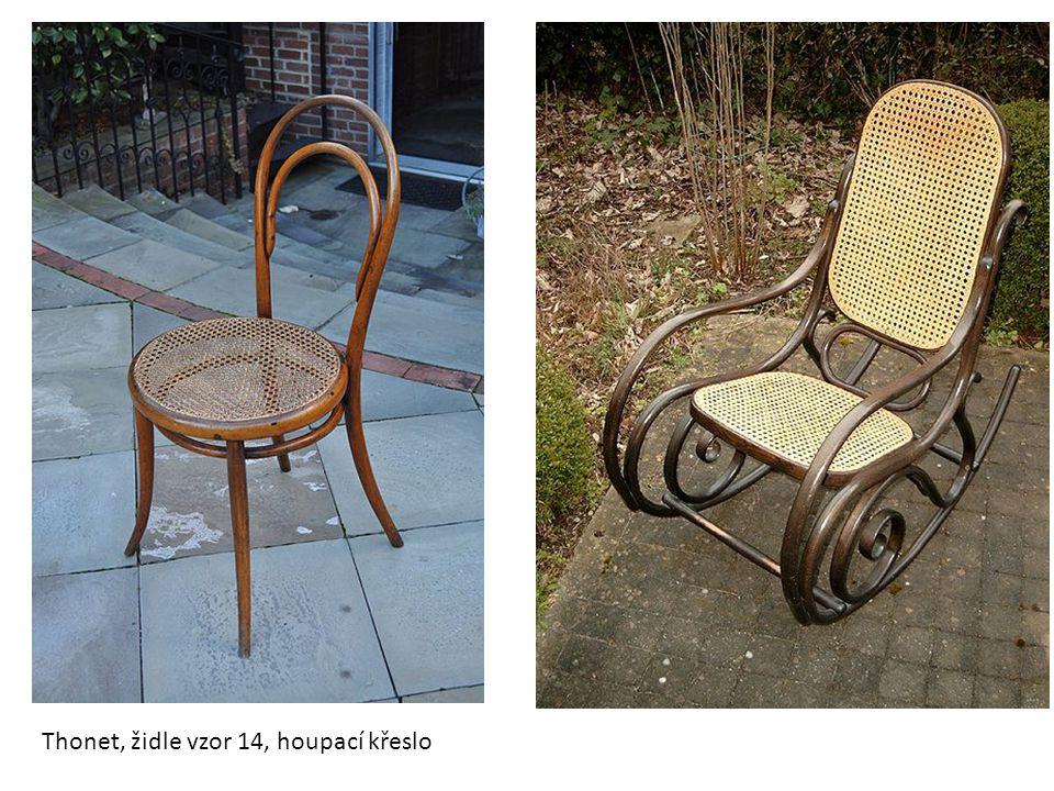 Thonet, židle vzor 14, houpací křeslo