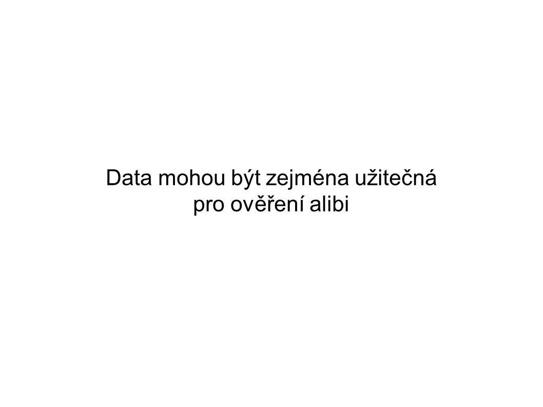 Data mohou být zejména užitečná pro ověření alibi