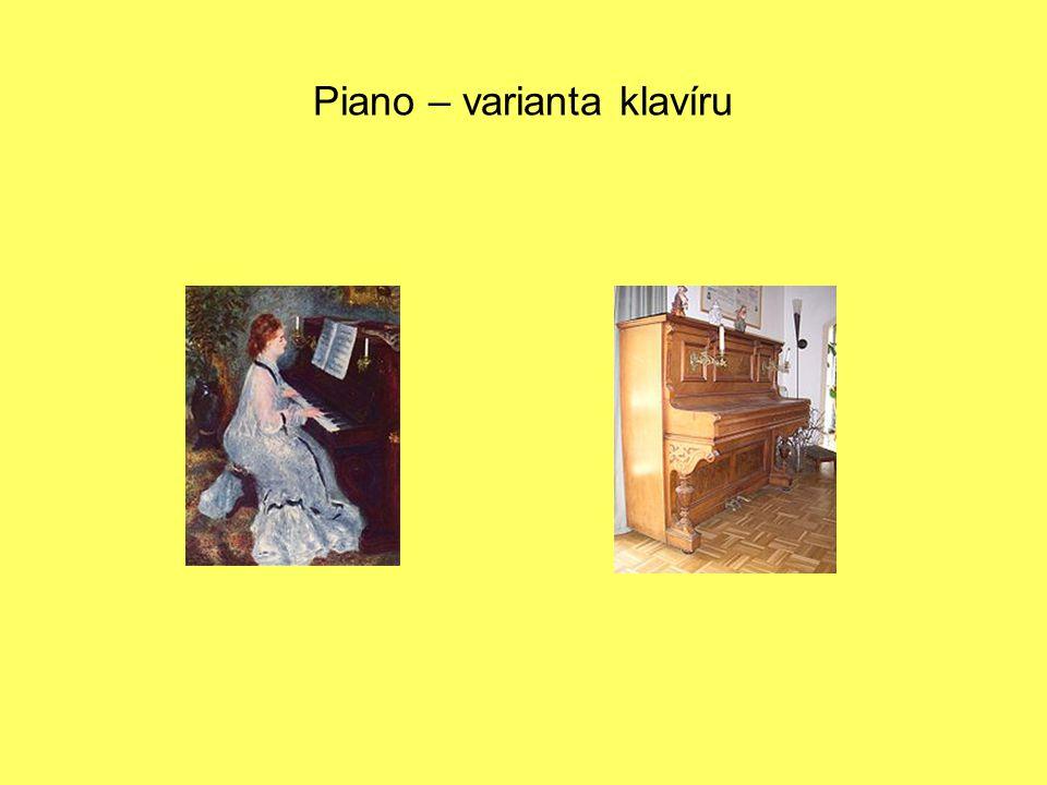 Piano – varianta klavíru