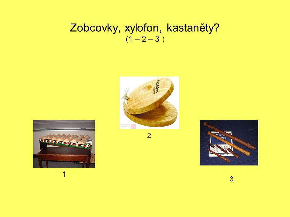 Zobcovky, xylofon, kastaněty? (1 – 2 – 3 ) 1 2 3