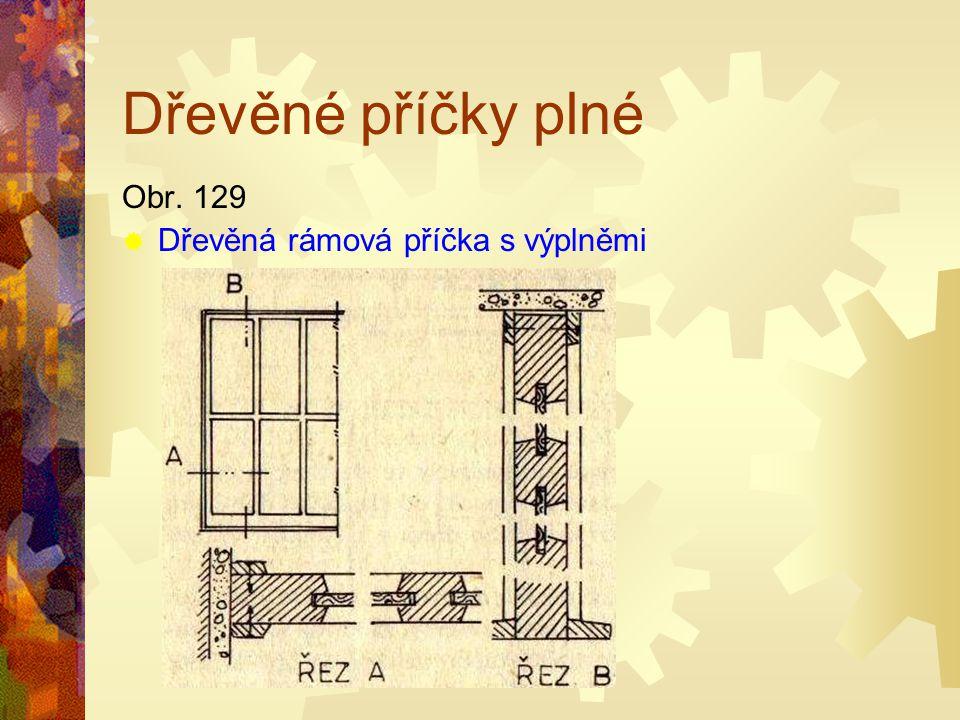 Dřevěné příčky plné Obr. 128 DDřevěná plná příčka z masivního dřeva