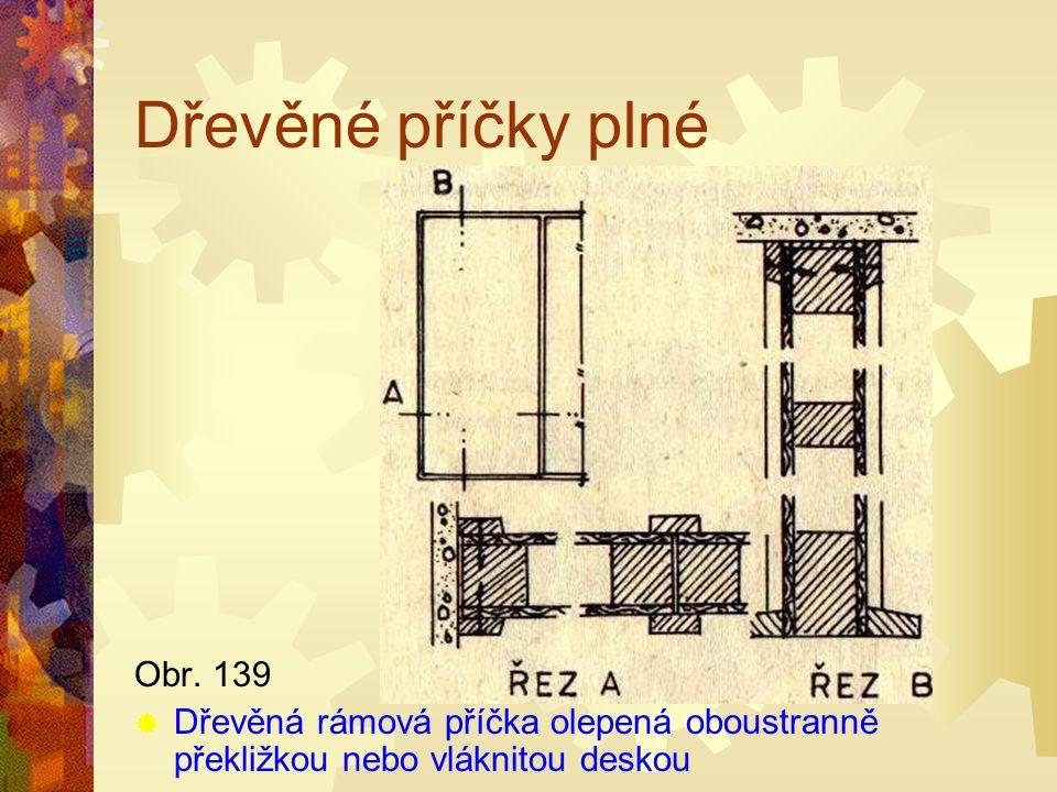 Dřevěné příčky plné Obr. 129 DDřevěná rámová příčka s výplněmi
