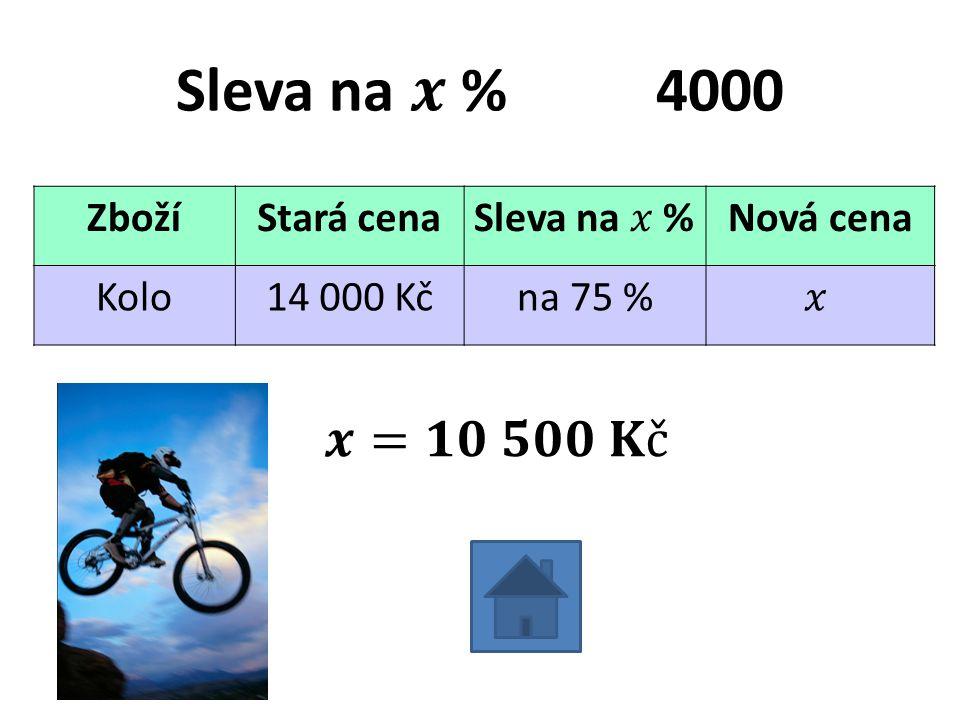 ZbožíStará cenaNová cena Kolo14 000 Kčna 75 %