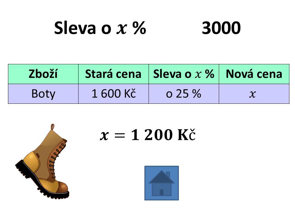 ZbožíStará cenaNová cena Boty1 600 Kčo 25 %