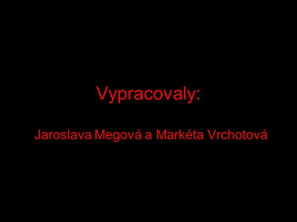 Vypracovaly: Jaroslava Megová a Markéta Vrchotová