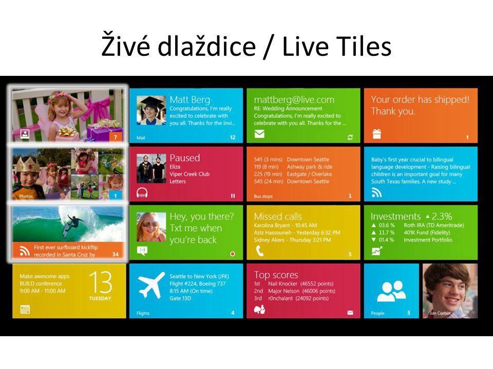 Živé dlaždice / Live Tiles