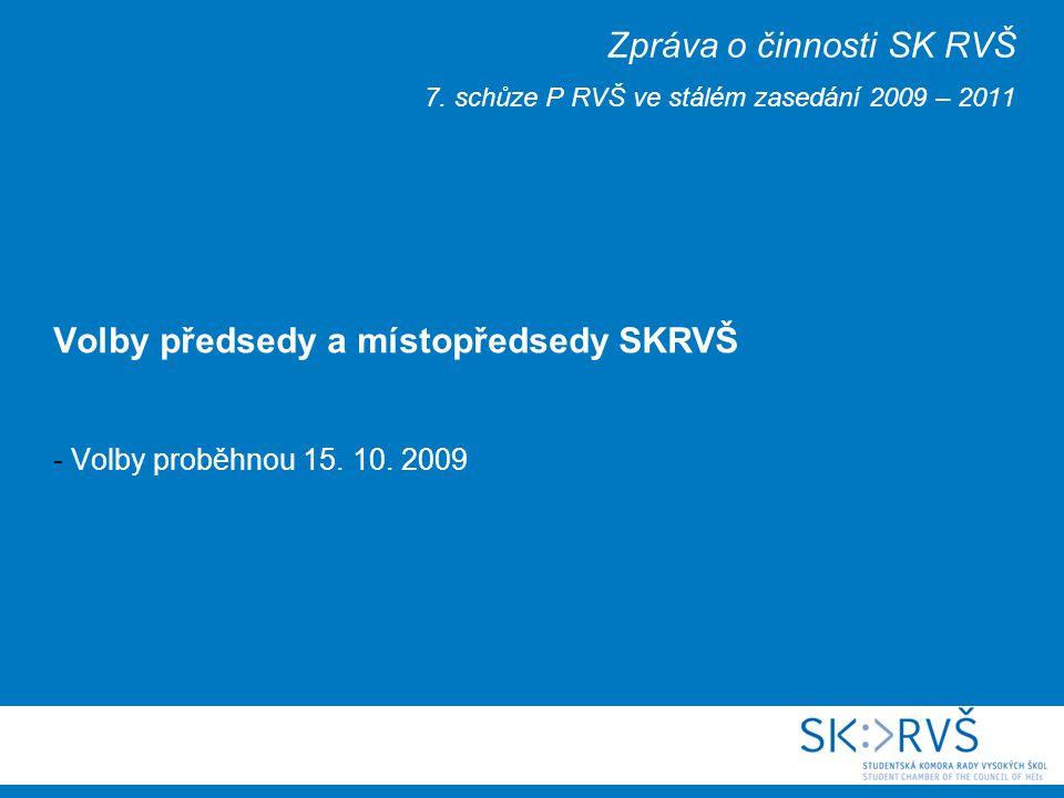 Studentská komora Rady VŠ 15.10.
