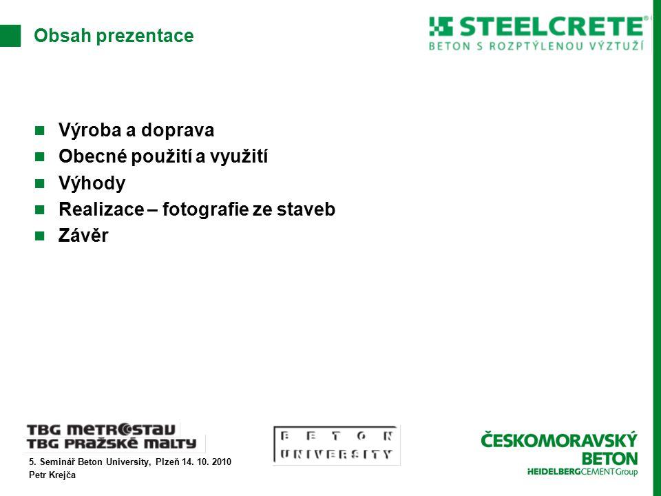 5. Seminář Beton University, Plzeň 14. 10.