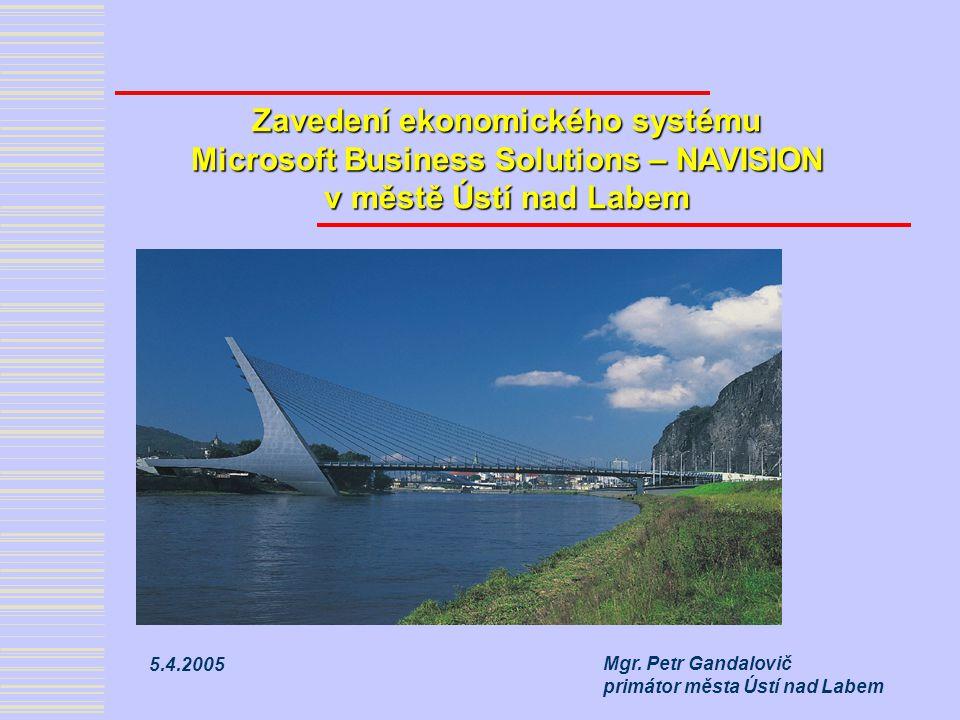Zavedení ekonomického systému Microsoft Business Solutions – NAVISION v městě Ústí nad Labem Mgr.