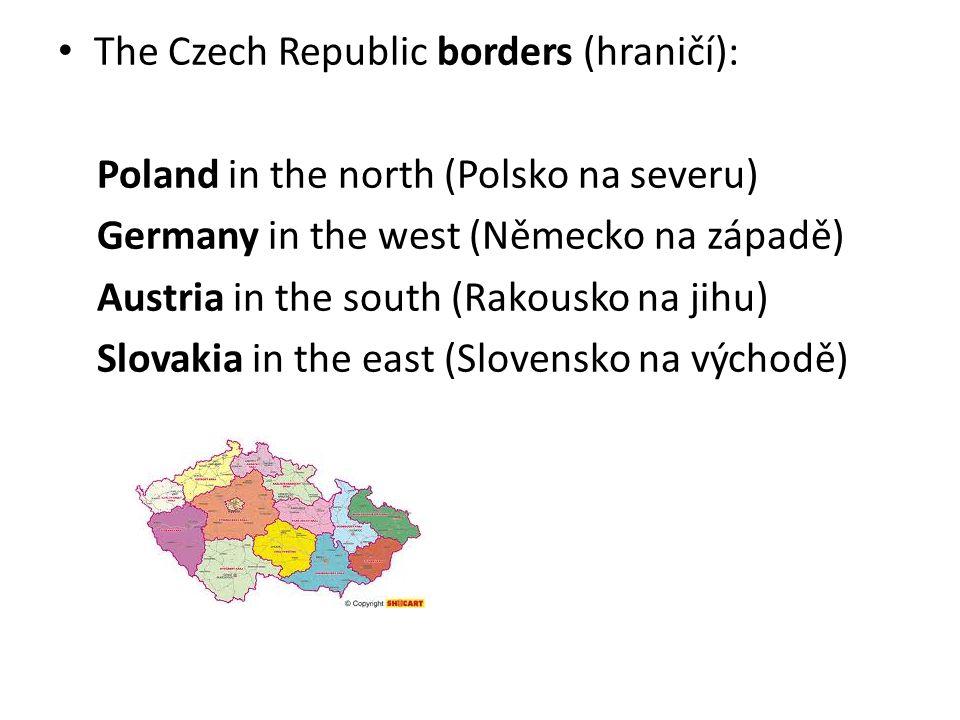 The highest mountains are the Giant Mountains (Nejvyšší hory jsou Krkonoše) The most important rivers are the Elbe, the Vltava, the Morava and the Odra (Nejdůležitější řeky Labe, Vltava, Morava a Odra)