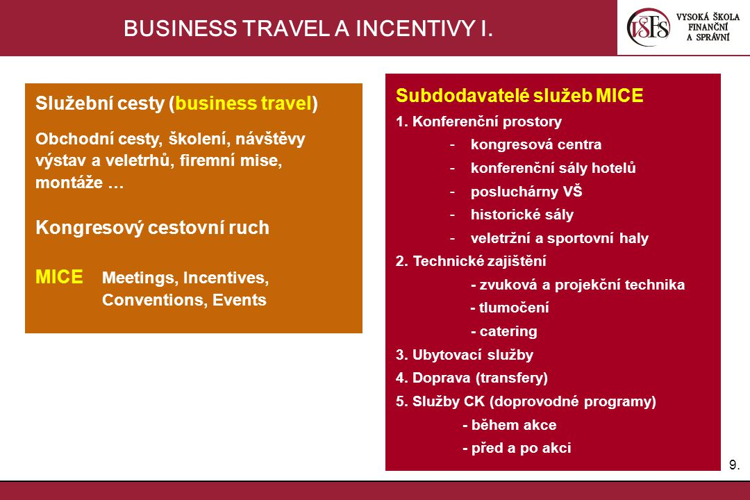 10.BUSINESS TRAVEL A INCENTIVY II.