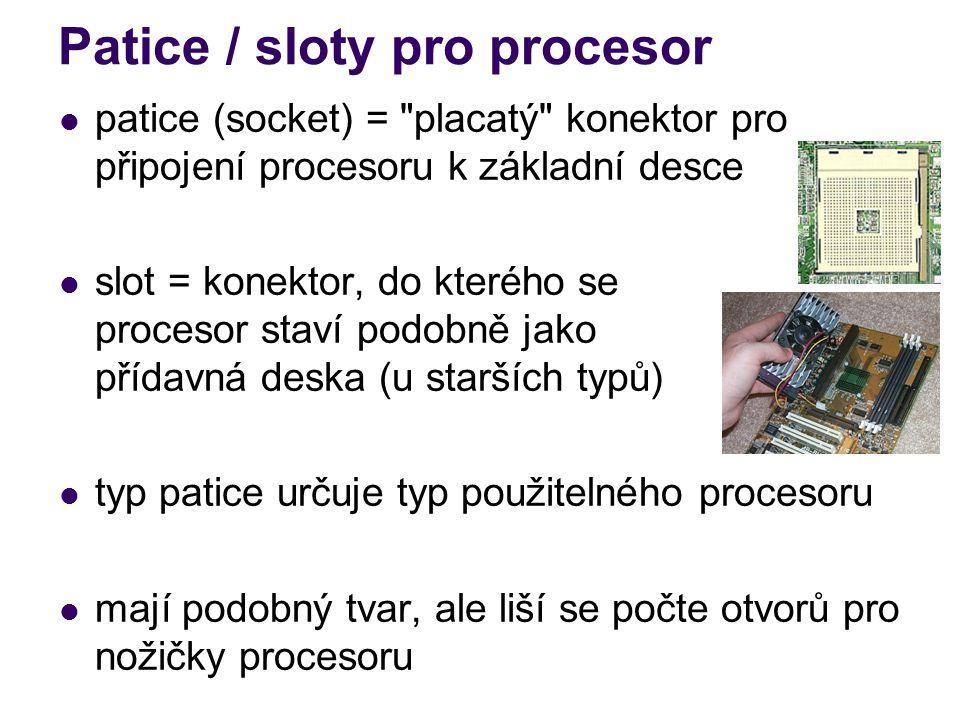 Patice / sloty pro procesor patice (socket) =