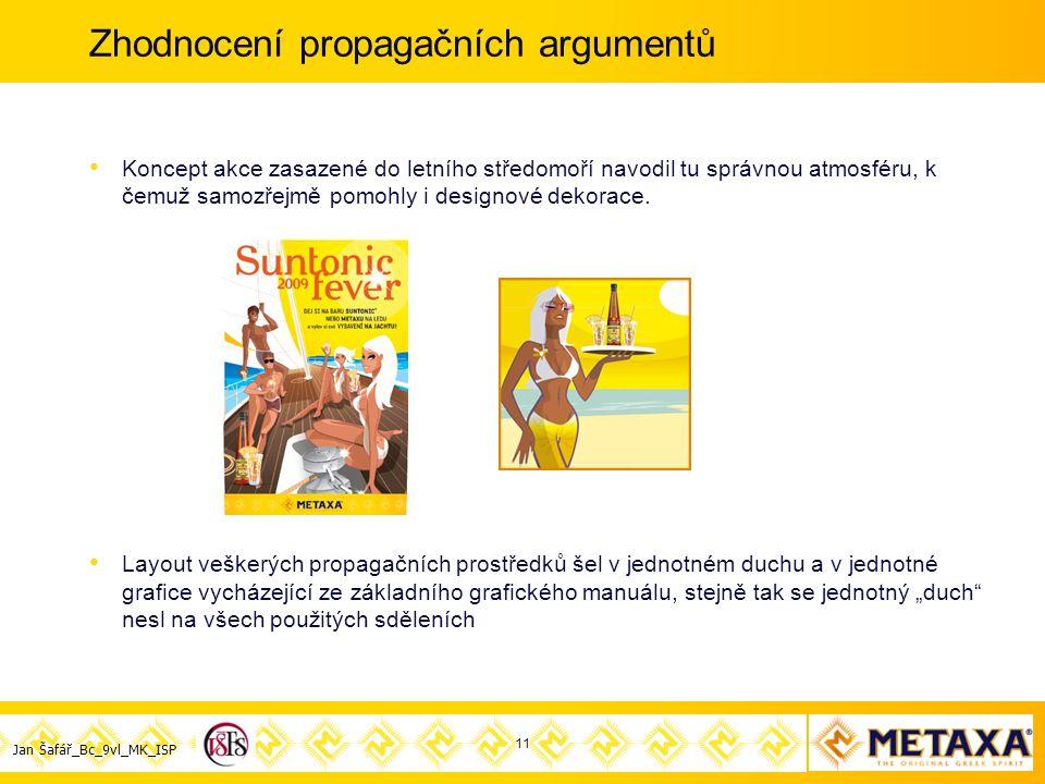 Jan Šafář_Bc_9vl_MK_ISP Zhodnocení propagačních argumentů Koncept akce zasazené do letního středomoří navodil tu správnou atmosféru, k čemuž samozřejmě pomohly i designové dekorace.