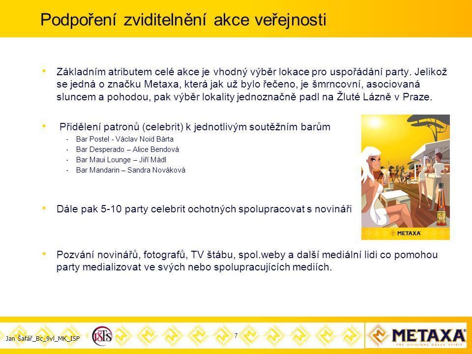 Jan Šafář_Bc_9vl_MK_ISP Podpoření zviditelnění akce veřejnosti Základním atributem celé akce je vhodný výběr lokace pro uspořádání party.