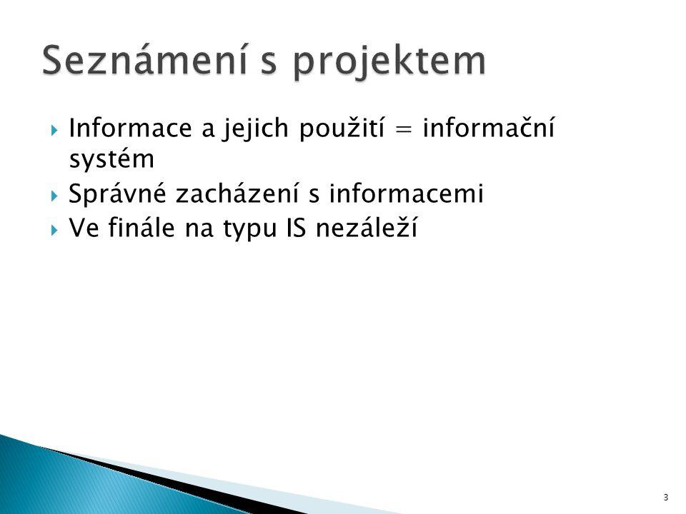  Informace a jejich použití = informační systém  Správné zacházení s informacemi  Ve finále na typu IS nezáleží 3