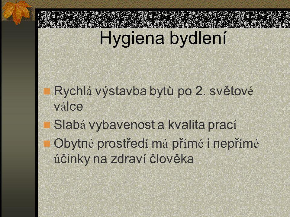 Hygiena bydlení Rychl á výstavba bytů po 2.