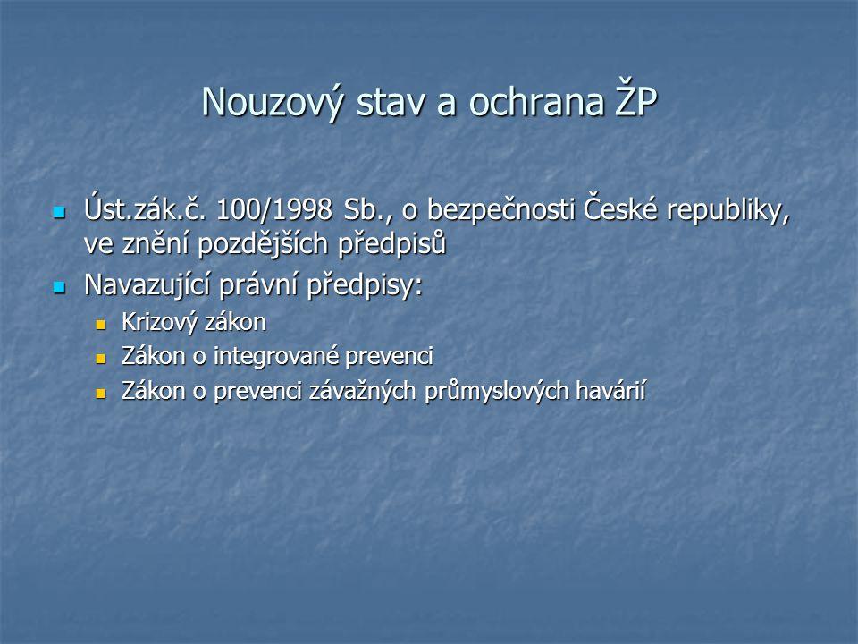Nouzový stav a ochrana ŽP Úst.zák.č.