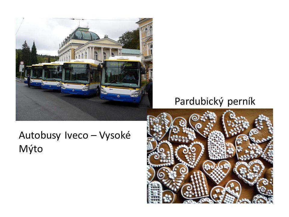 Autobusy Iveco – Vysoké Mýto Pardubický perník