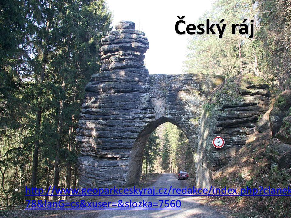 Český ráj http://www.geoparkceskyraj.cz/redakce/index.php clanek=93 78&lanG=cs&xuser=&slozka=7560 http://www.geoparkceskyraj.cz/redakce/index.php clanek=93 78&lanG=cs&xuser=&slozka=7560