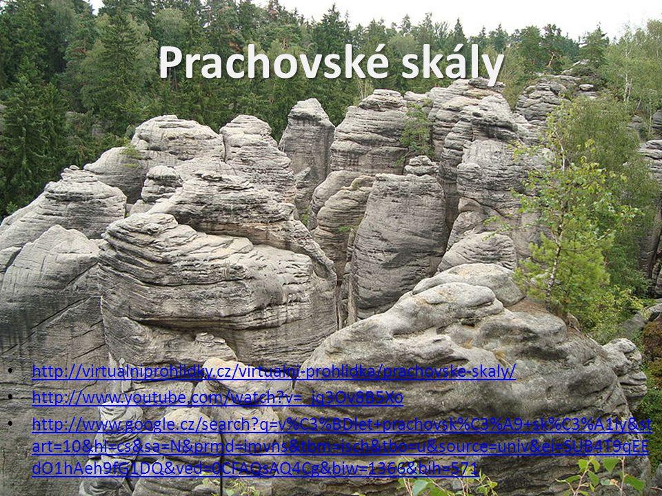 Prachovské skály http://virtualniprohlidky.cz/virtualni-prohlidka/prachovske-skaly/ http://www.youtube.com/watch v=_jq3Ov8B5Xo http://www.google.cz/search q=v%C3%BDlet+prachovsk%C3%A9+sk%C3%A1ly&st art=10&hl=cs&sa=N&prmd=imvns&tbm=isch&tbo=u&source=univ&ei=SUB4T9qEE dO1hAeh9fG1DQ&ved=0CFAQsAQ4Cg&biw=1366&bih=571 http://www.google.cz/search q=v%C3%BDlet+prachovsk%C3%A9+sk%C3%A1ly&st art=10&hl=cs&sa=N&prmd=imvns&tbm=isch&tbo=u&source=univ&ei=SUB4T9qEE dO1hAeh9fG1DQ&ved=0CFAQsAQ4Cg&biw=1366&bih=571