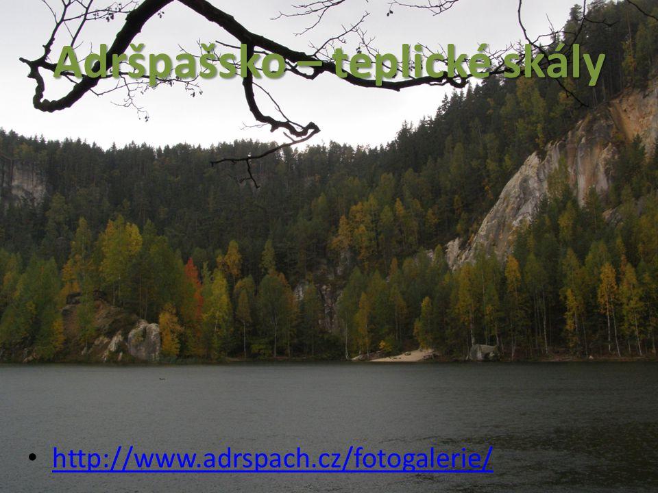 Adršpašsko – teplické skály http://www.adrspach.cz/fotogalerie/