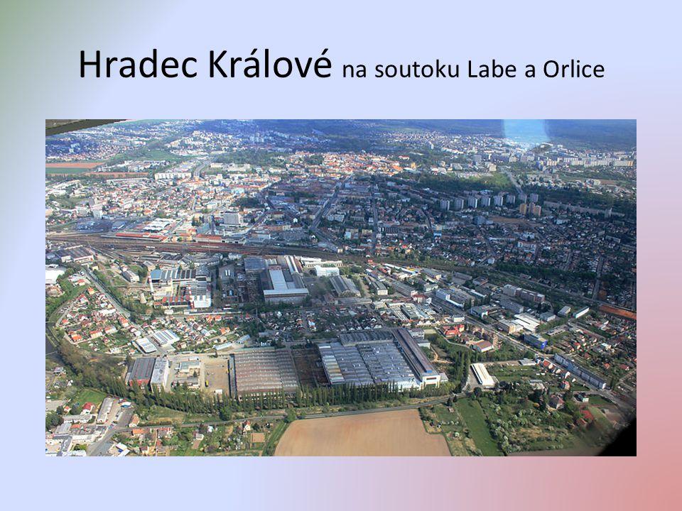 Hradec Králové na soutoku Labe a Orlice