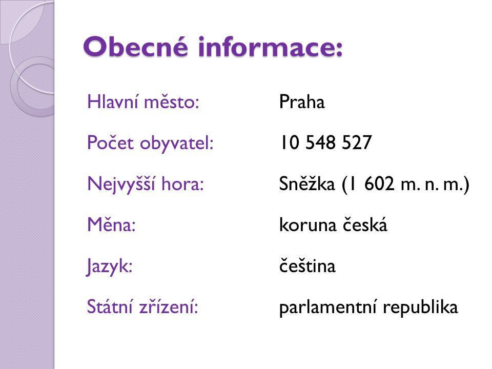 Sousední státy České republiky Polsko hl.město: Varšava Německo hl.