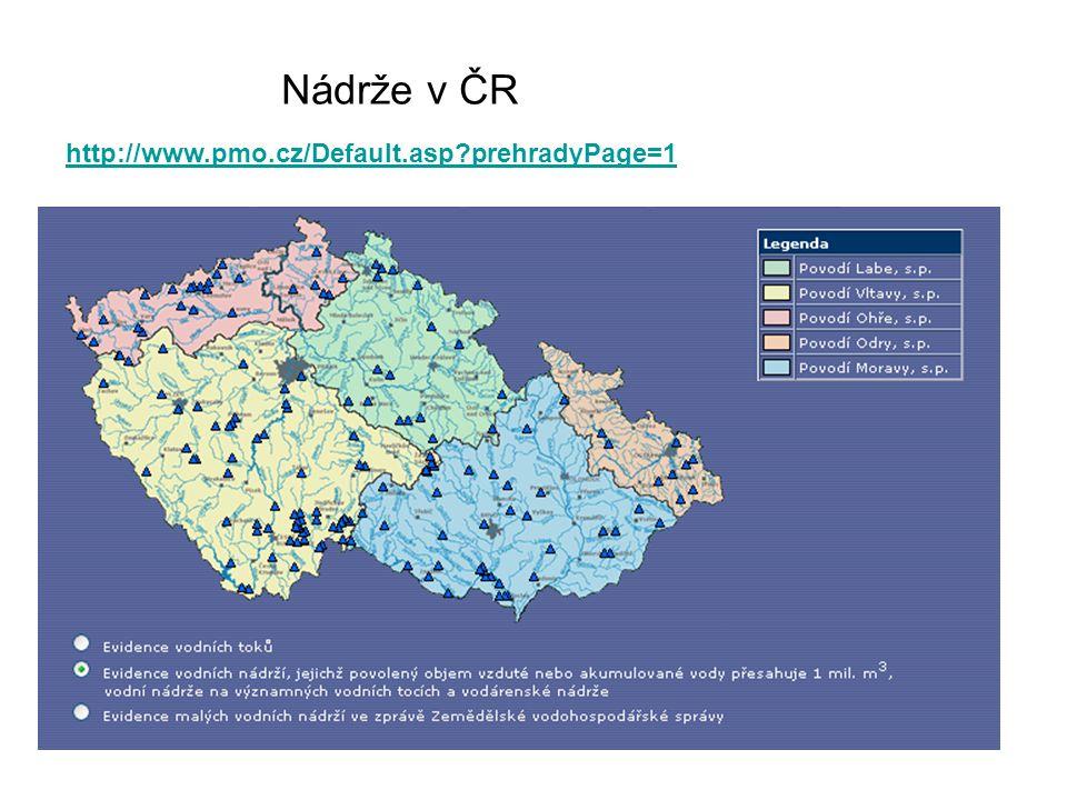 Nádrže v ČR http://www.pmo.cz/Default.asp?prehradyPage=1