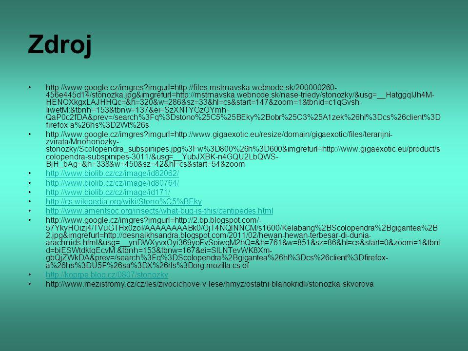Zdroj http://www.google.cz/imgres?imgurl=http://files.mstrnavska.webnode.sk/200000260- 456e445d14/stonozka.jpg&imgrefurl=http://mstrnavska.webnode.sk/