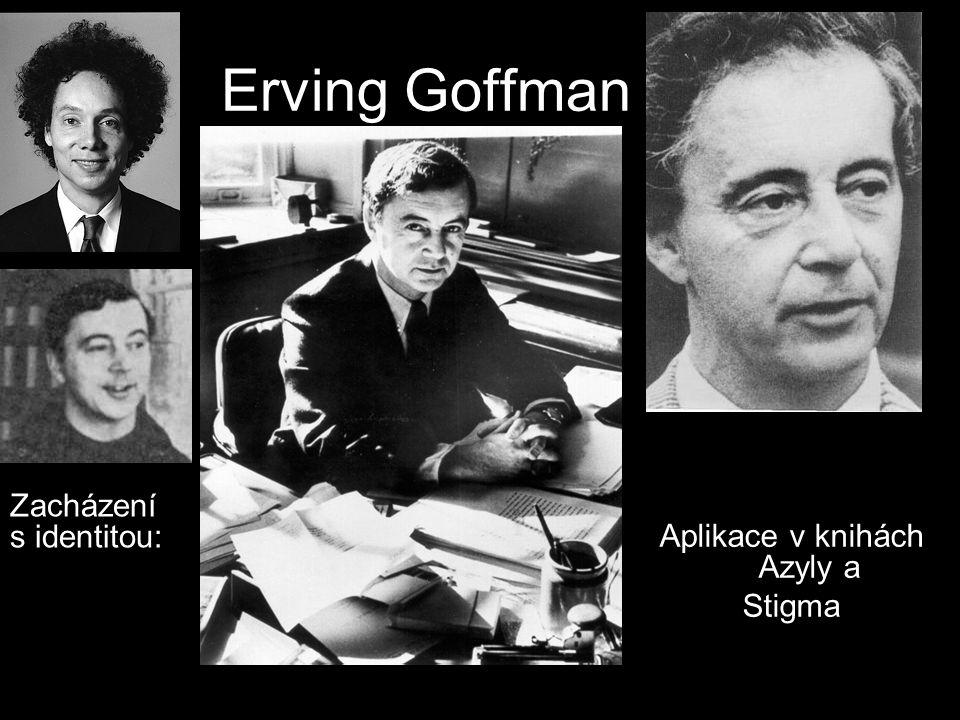 Erving Goffman Aplikace v knihách Azyly a Stigma Zacházení s identitou: