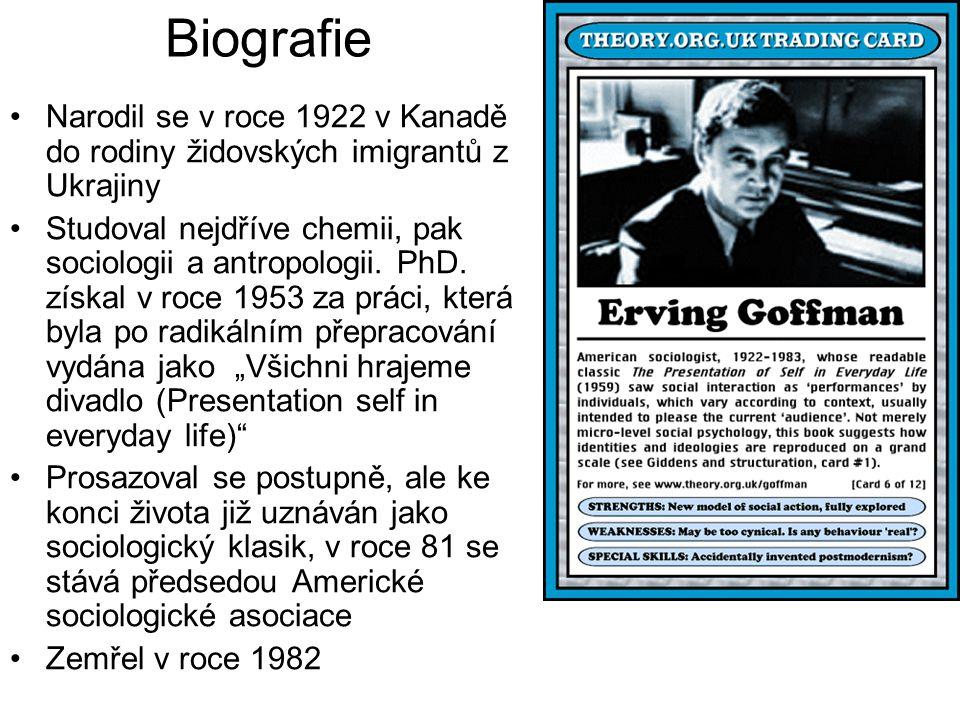 Biografie Narodil se v roce 1922 v Kanadě do rodiny židovských imigrantů z Ukrajiny Studoval nejdříve chemii, pak sociologii a antropologii. PhD. získ