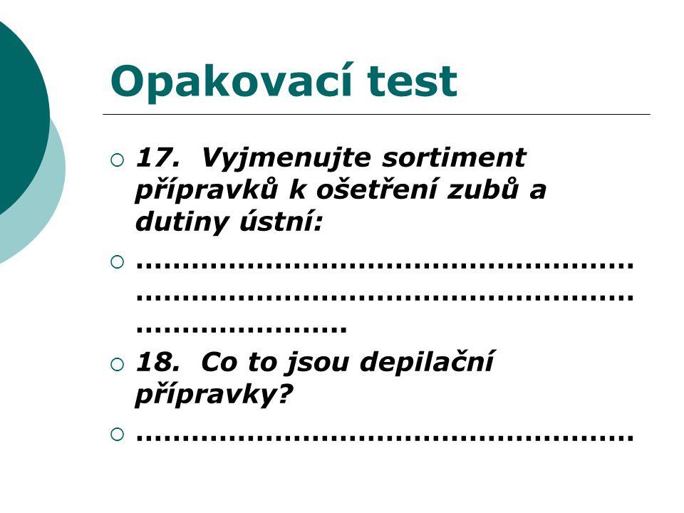 Opakovací test  17.
