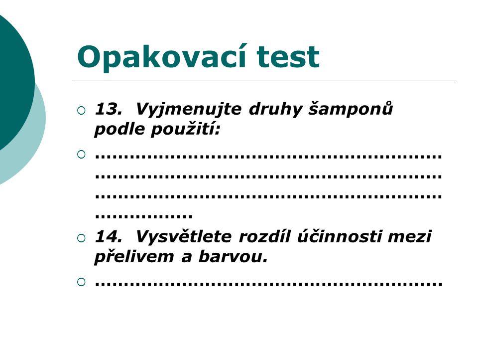 Opakovací test  13.