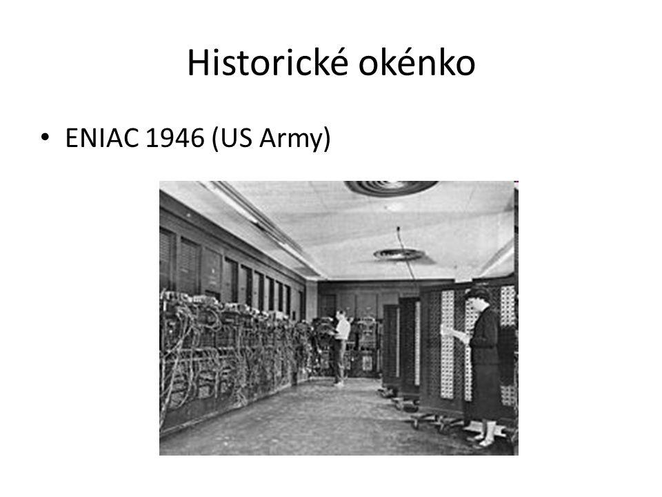 Historické okénko ENIAC 1946 (US Army)