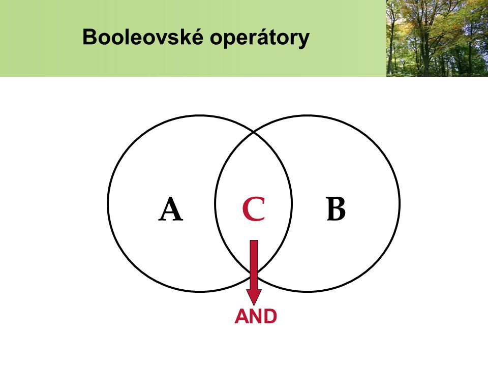 Booleovské operátory AND ABC