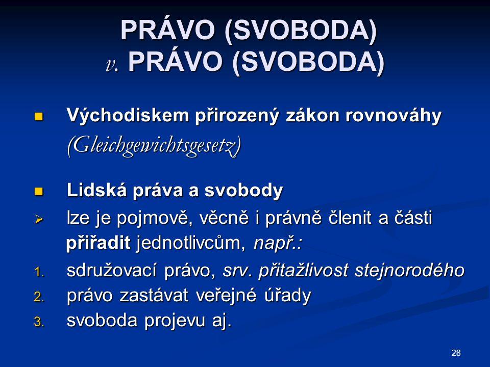 28 PRÁVO (SVOBODA) v.PRÁVO (SVOBODA) PRÁVO (SVOBODA) v.