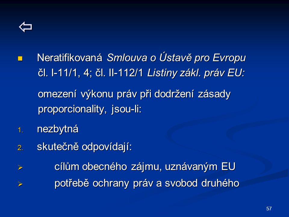 57  Neratifikovaná Smlouva o Ústavě pro Evropu Neratifikovaná Smlouva o Ústavě pro Evropu čl.