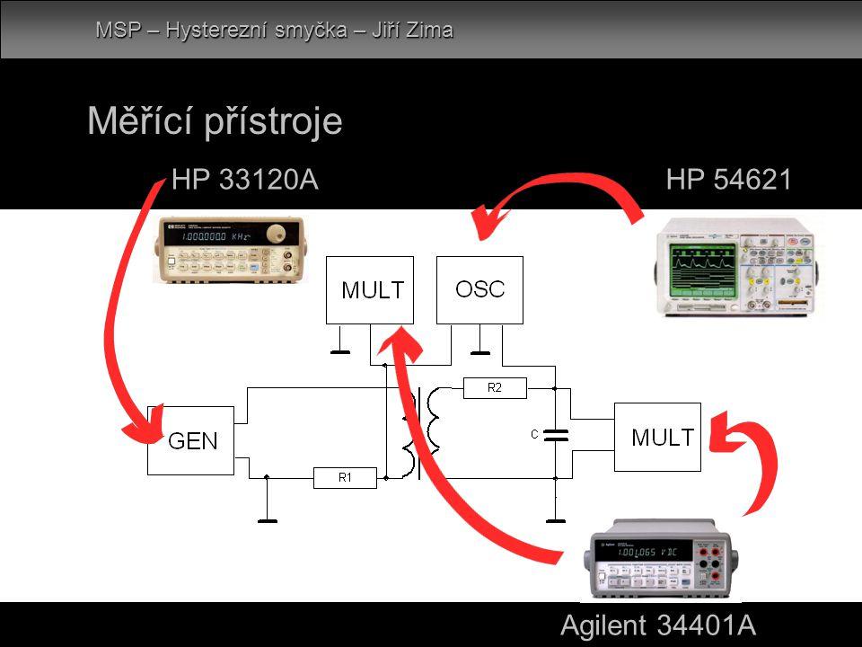 HP 33120A Měřící přístroje Agilent 34401A HP 54621